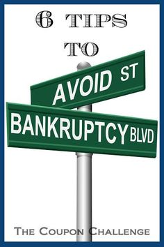 6 tips to avoid bankruptcy.  You want begin considering these options now to get your finances back on track and get out of debt this year.