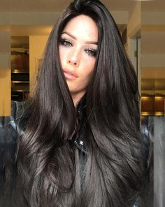 So you fancy long hair? Want to know how to grow long hair the right way? Looking for how to grow long hair the right way? These are the effective way you will know how to grow long hair the right way! Long Brown Hair, Very Long Hair, Dark Hair, Thick Long Hair, Black Brown Hair, Straight Black Hair, Grow Long Hair, Big Hair, Long Hair Wigs