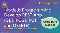 """Develop complete REST service app using pure Node.js (GET, POST, PUT and DELETE) -How to use """"mssql"""" module/package to do basic CRUD operations to Microsoft SQL Server database using Node.js -How to use HTTP GET, POST, PUT and DELETE using pure Node.js (to fetch/read, insert/add, update and delete data in Microsoft SQL Server)"""
