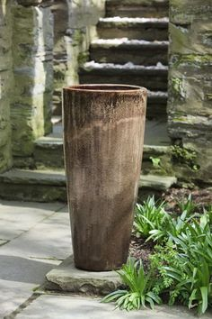 Astrid Tall Planter in Ice Coffee by Campania International