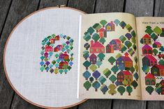 Cross stitching from a vintage book, by Hazelnutgirl, via Flickr