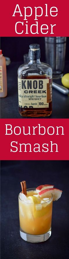 This #apple #cider #bourbon #smash #cocktail is so yummy. It is perfect to serve over the holidays. But not just for that time, but year round, that's how good it is. Try it and see. https://ddel.co/acbsc via @dishesdelish