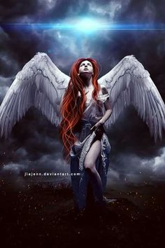 Angel With Red Hair