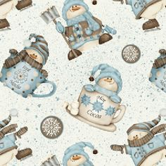 Henry Glass - Shelly Comiskey - I Love Snow - Flannel - Snowmen