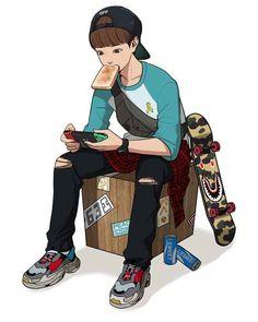 CC : the secret of Angel Hot Anime Boy, Anime Art Girl, Anime Guys, Beauty Web, True Beauty, Character Art, Character Design, Wallpaper Hp, Webtoon Comics