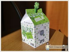 PRINTABLE MILK Carton Lucky Milk DIY digital di PetitCreaciones