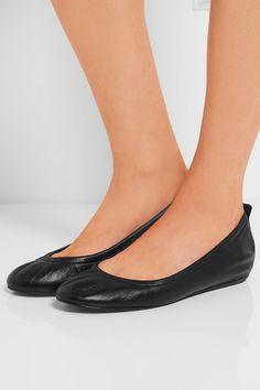 Lanvin - Glossed-leather Ballet Flats - Black - IT40.5