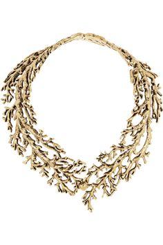 AURÉLIE BIDERMANN  Aphrodite gold-plated tree branch necklace