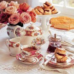 cr-fiesta de té, usar la mejor porcelana