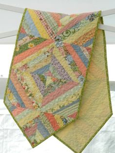 Glory Quilts Scrappy Strings Quilted Tablerunner - SOLD