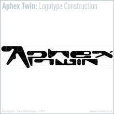 "325 Likes, 11 Comments - Paul Nicholson (@number3__) on Instagram: ""NUMBER 3 presents APHEX TWIN LOGOTYPE CONSTRUCTION  It is exactly 25 years since the release of…"""
