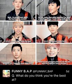 I like Zelo's the most cuz is probably say the same thing