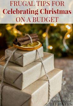 If you are trying to save money this holiday season, consider this your Frugal Christmas Guide! Here are frugal tips for celebrating Christmas with your family on a budget including money saving tips for Christmas gifts, Christmas decor ideas, DIY crafts, and holiday food.