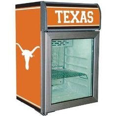 Texas Longhorns Glass Door Refrigerator