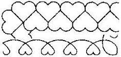 Quilt Stencils-2  & 4  Borders 8 X18