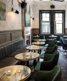 the paddington inn dining room. Cafe Bar, Cafe Restaurant, Restaurant Design, Restaurant Lighting, Commercial Interior Design, Commercial Interiors, Home Bar Designs, Bar Seating, Bar Interior