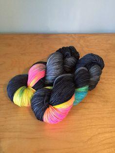 Hand-Dyed Sock Yarn Prism Merino Wool Nylon by JuliannasFibre