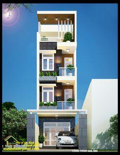 Case No. House Outer Design, Modern Small House Design, House Outside Design, House Front Design, Narrow House Designs, Narrow House Plans, 2bhk House Plan, Model House Plan, 3 Storey House Design