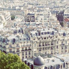above the roofs of Paris