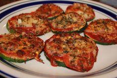 Never trust a skinny cook....: Zucchini pizzas