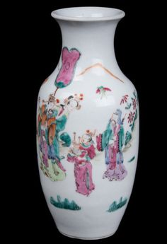 China 19. Jh. A Chinese Famille Rose Vase - Chinois Cinese Fencai - Qing Tongzhi