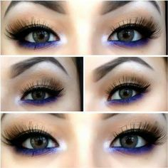 make-up preto e azul
