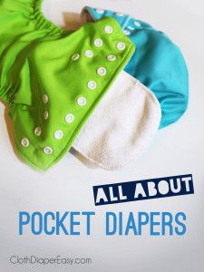 Let's talk about POCKET DIAPERS! Learn about pocket styles, types and how EASY they are wash! Video demonstration on the different types of pocket diapers included! http://MyGreenNest.com #PocketDiapers #ClothDiapers *PIN NOW, READ & WATCH LATER!