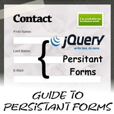 Guide to have Persistent Form data using jQuery | Time to Hack