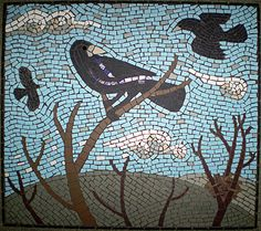 Rooks Jackdaw, Crows Ravens, Blackbirds, Bird Wings, Mosaic Ideas, Rook, Magpie, Conspiracy, Mosaics