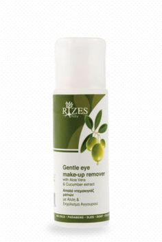 Gentle eye make-up remover. This gentle eye make-up remover is a clear liquid that gently and effectively removes all eye make-up. Eye Make-up Remover, Make Up Remover, All About Eyes, How To Remove, How To Make, Aloe Vera, Cucumber, Shampoo, Cosmetics