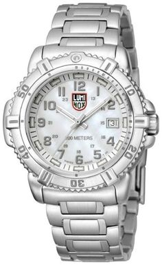 Women's Wrist Watches - Luminox Colormark Mother of Pearl Dial Stainless Steel Ladies Watch A7258 * You can find out more details at the link of the image.