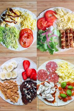 Wrap Recipes, New Recipes, Cooking Recipes, Healthy Recipes, Recipes Dinner, Favorite Recipes, Pizza Wraps, Tortilla Wraps, Tortilla Recipes