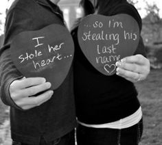 """I stole her heart. so I'm stealing his last name- could do it the day of the wedding in your attire before wedding """"stealing"""" after wedding """"stole"""" Wedding Pics, Wedding Engagement, Wedding Events, Our Wedding, Dream Wedding, Weddings, Wedding Stuff, Funny Wedding Dresses, Wedding Album"""