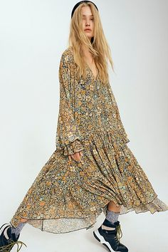Perfect for the growing bump! Fall Dresses, Cute Dresses, Summer Dresses, Dresser, Clothing Blogs, Free People Maxi Dress, Mode Hijab, Casual Fall Outfits, Work Outfits
