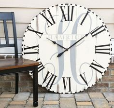Large Wall Clock Oversized Wall Clock Custom Wall Clocks