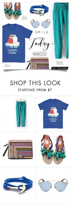 """""""Smile Today"""" by mahafromkailash ❤ liked on Polyvore featuring Lizzie Fortunato, Lanvin and Christian Dior"""