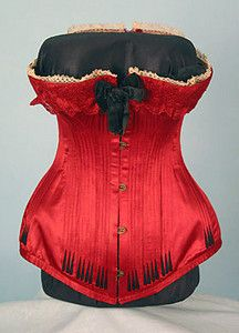 Red French Corset, c. 1890 October 24, 2004 - Session 2 Lot 581 - $3,250.00