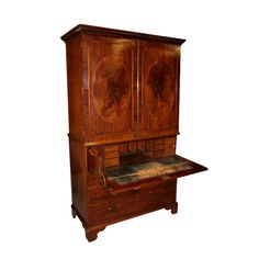 via bklyn contessa :: from crown colony antiques :: 19th century English :: secretary linen press