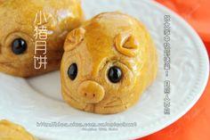 無需月餅模的~~小豬月餅祝大家中秋節快樂!