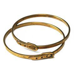 Buckle Bangle | Striking Verdigris Jewelry