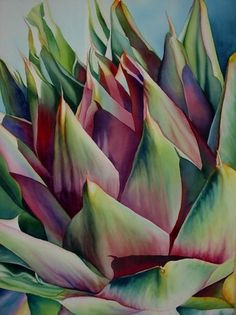 Cynara III by Laurie Asahara Watercolor ~ 30 x 22