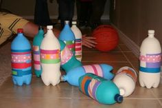 candyland bowling - have you thought about having games for people & tiny hooligans to entertain themselves?