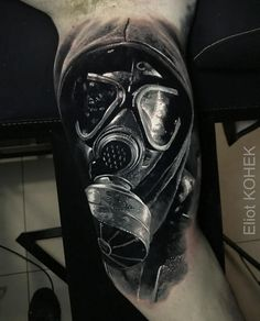 Gas Mask Realism Tattoo