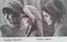 Beehive Book No 118 Winter Headwear Winter Headwear, Winter Hats, Knitting Patterns, Crochet Patterns, Knitting Ideas, Dk Weight Yarn, Slouchy Hat, Retro Chic, Vintage Knitting