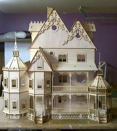 Ashley II Gothic Victorian Mansion Dollhouse Very Large Kit 1:12 scale  | eBay!