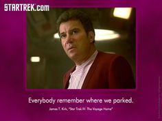The challenges of having an invisible spaceship. (From Star Trek IV: The Voyage Home)