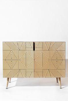 Holli Zollinger LINE MANDALA Credenza   DENY Designs Home Accessories
