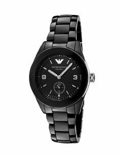 Emporio Armani Women's AR1422 Black Ceramic Case & Bracelet Black Dial Watch Emporio Armani. $209.99. 30 meters(99 feet). Fashion watch. 40mm. Mineral. Quartz movement