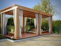 Pergola For Small Backyard Key: 6007531055 Diy Pergola, Pergola Swing, Deck With Pergola, Cheap Pergola, Wooden Pergola, Covered Pergola, Diy Patio, Backyard Patio, Patio Shade