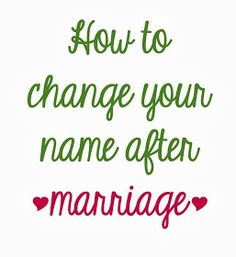 Potions  Poppy Seeds: How to Change Your Name After Marriage